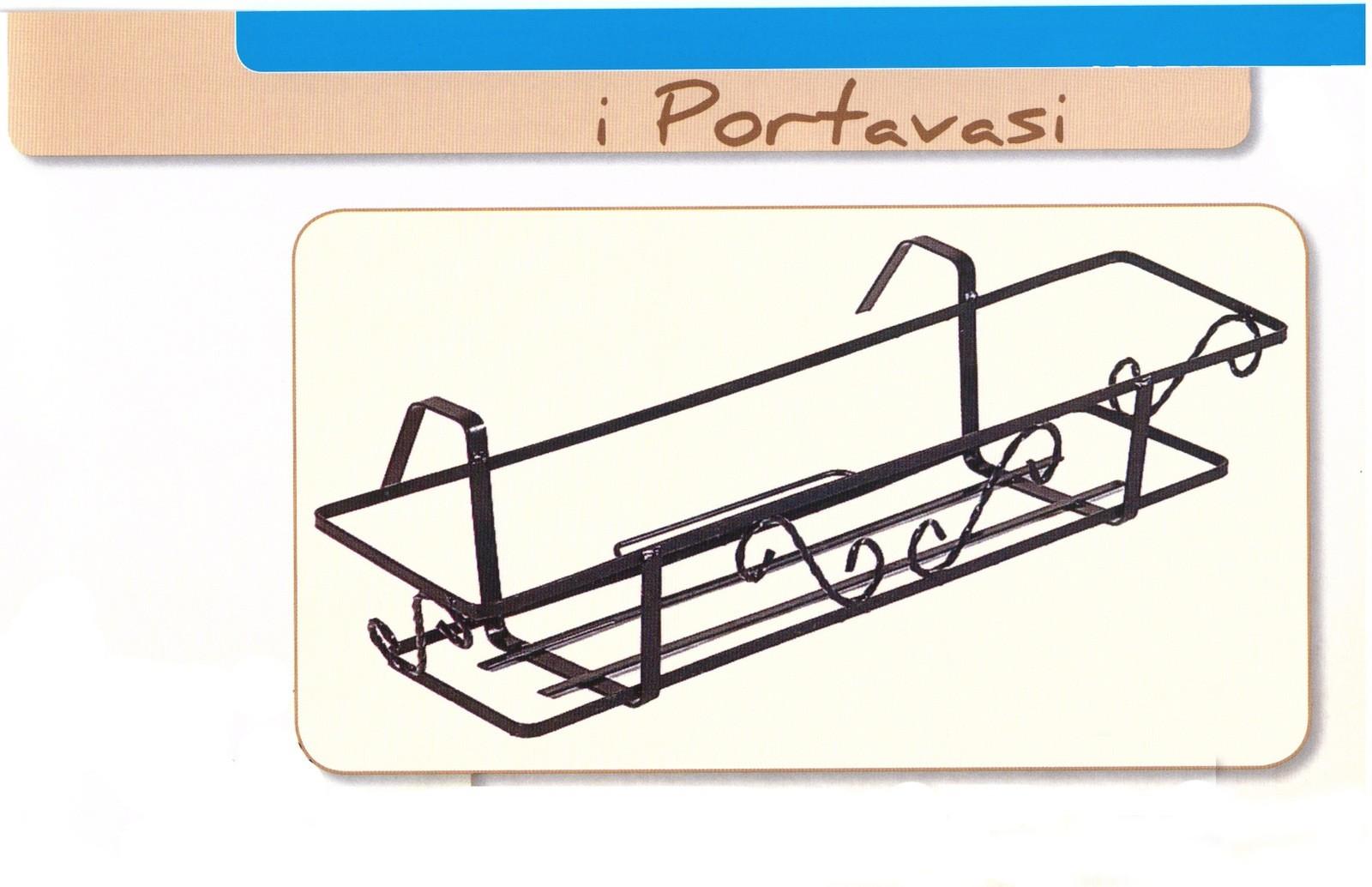 Portavaso da balcone pergolo fisso cm 50 portavaso da for Portavasi da balcone