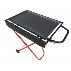BARBECUE A GAS CON PIASTRA IN GHISA 60x40 TRASPORTABILE