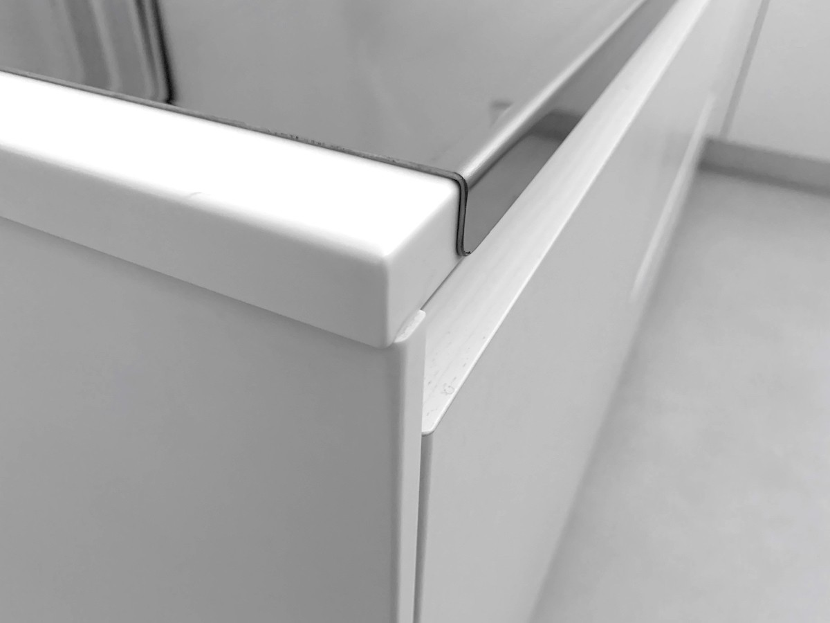 Tagliere Per Piano Cucina spianatoia acciaio inox 80x48 cm spianatoia tagliere acciaio inox 8