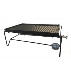 BARBECUE A GAS MINI CON PIASTRA IN GHISA 60x40