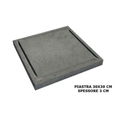 PIASTRA OLLARE LAVICA 30X30 SPESSORE 3 CM PER BARBECUE LEGNA GAS BISTECCHIERA PIETRA